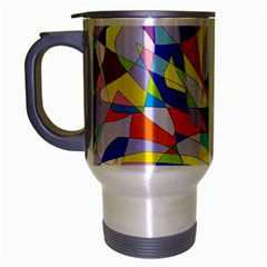Fractured Facade Travel Mug (Silver Gray)