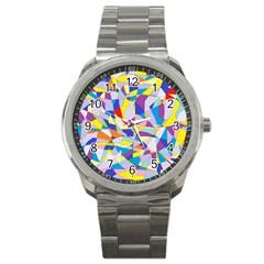 Fractured Facade Sport Metal Watch
