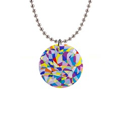 Fractured Facade Button Necklace