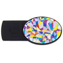 Fractured Facade 4GB USB Flash Drive (Oval)
