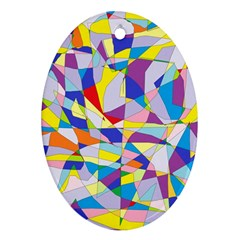 Fractured Facade Oval Ornament (Two Sides)