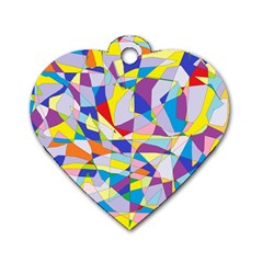 Fractured Facade Dog Tag Heart (One Sided)
