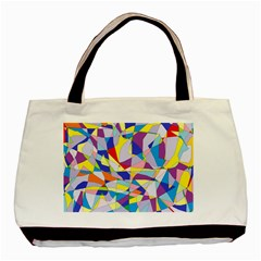 Fractured Facade Twin-sided Black Tote Bag