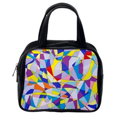 Fractured Facade Classic Handbag (One Side)