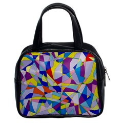 Fractured Facade Classic Handbag (Two Sides)