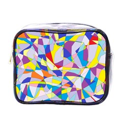 Fractured Facade Mini Travel Toiletry Bag (one Side)