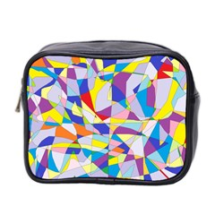 Fractured Facade Mini Travel Toiletry Bag (two Sides)