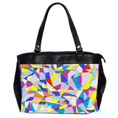 Fractured Facade Oversize Office Handbag (Two Sides)