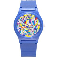 Fractured Facade Plastic Sport Watch (small)
