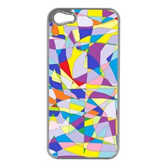 Fractured Facade Apple iPhone 5 Case (Silver)