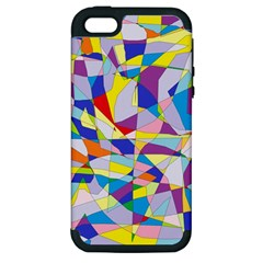 Fractured Facade Apple Iphone 5 Hardshell Case (pc+silicone)