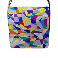 Fractured Facade Flap Closure Messenger Bag (Large)