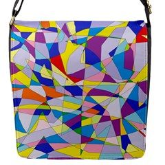 Fractured Facade Flap Closure Messenger Bag (small)