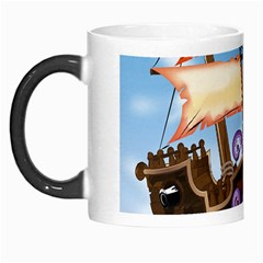 Pirate Ship Attacked By Giant Squid cartoon. Morph Mug
