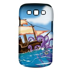 Pirate Ship Attacked By Giant Squid cartoon. Samsung Galaxy S III Classic Hardshell Case (PC+Silicone)