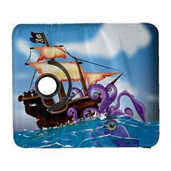 Pirate Ship Attacked By Giant Squid cartoon. Samsung Galaxy S  III Flip 360 Case