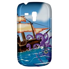 Pirate Ship Attacked By Giant Squid cartoon. Samsung Galaxy S3 MINI I8190 Hardshell Case