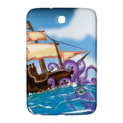 Pirate Ship Attacked By Giant Squid Cartoon  Samsung Galaxy Note 8 0 N5100 Hardshell Case