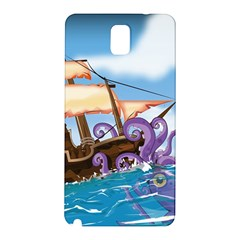 Pirate Ship Attacked By Giant Squid Cartoon  Samsung Galaxy Note 3 N9005 Hardshell Back Case