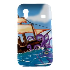 Pirate Ship Attacked By Giant Squid cartoon. Samsung Galaxy Ace S5830 Hardshell Case