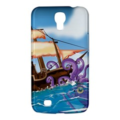 Pirate Ship Attacked By Giant Squid cartoon. Samsung Galaxy Mega 6.3  I9200 Hardshell Case