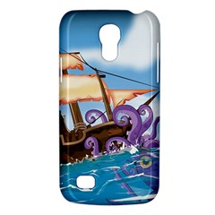 Pirate Ship Attacked By Giant Squid cartoon. Samsung Galaxy S4 Mini (GT-I9190) Hardshell Case