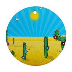 Cactus Round Ornament