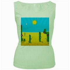 Cactus Women s Tank Top (Green)