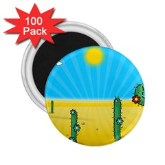 Cactus 2.25  Button Magnet (100 pack)