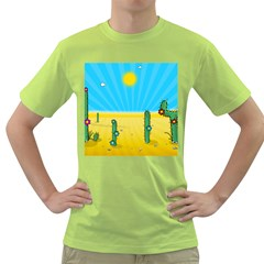 Cactus Men s T-shirt (Green)