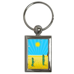 Cactus Key Chain (Rectangle)