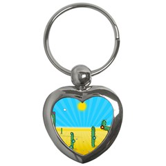 Cactus Key Chain (heart)