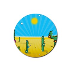 Cactus Drink Coasters 4 Pack (Round)