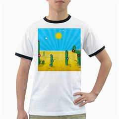 Cactus Men s Ringer T Shirt