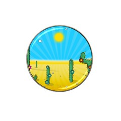 Cactus Golf Ball Marker 4 Pack (for Hat Clip)