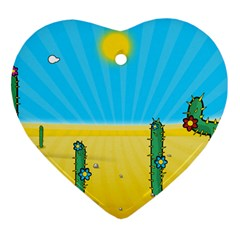 Cactus Heart Ornament (Two Sides)