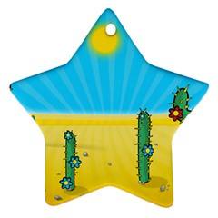 Cactus Star Ornament (two Sides)