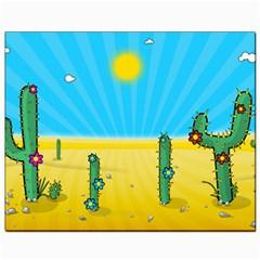 Cactus Canvas 8  x 10  (Unframed)