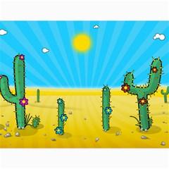 Cactus Canvas 12  x 16  (Unframed)