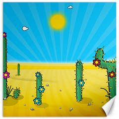 Cactus Canvas 16  X 16  (unframed)