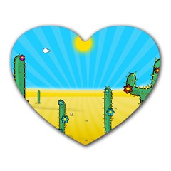 Cactus Mouse Pad (heart)
