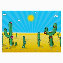 Cactus Glasses Cloth (large, Two Sided)