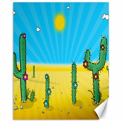 Cactus Canvas 11  x 14  (Unframed)