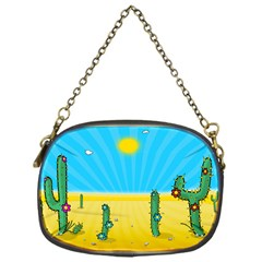 Cactus Chain Purse (one Side)