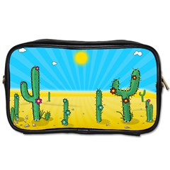 Cactus Travel Toiletry Bag (Two Sides)