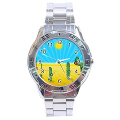 Cactus Stainless Steel Watch