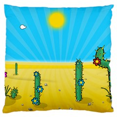 Cactus Large Cushion Case (single Sided)