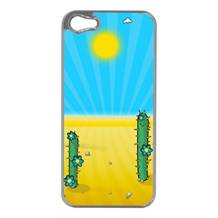 Cactus Apple iPhone 5 Case (Silver)