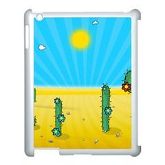 Cactus Apple iPad 3/4 Case (White)