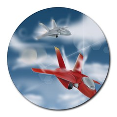 America Jet fighter Air Force 8  Mouse Pad (Round)